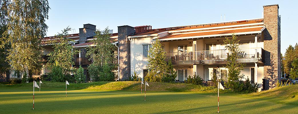 Golfspelarens drömdestination är Golfharju semesterbostäder, inte långt från utbudet vid Katinkulta spahotell.