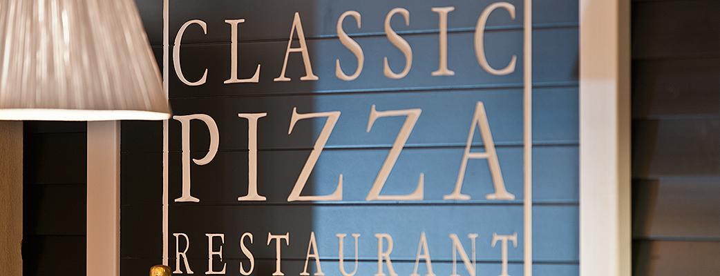 Classic Pizza Restaurant ligger på andra våningen i Katinkulta spahotell.