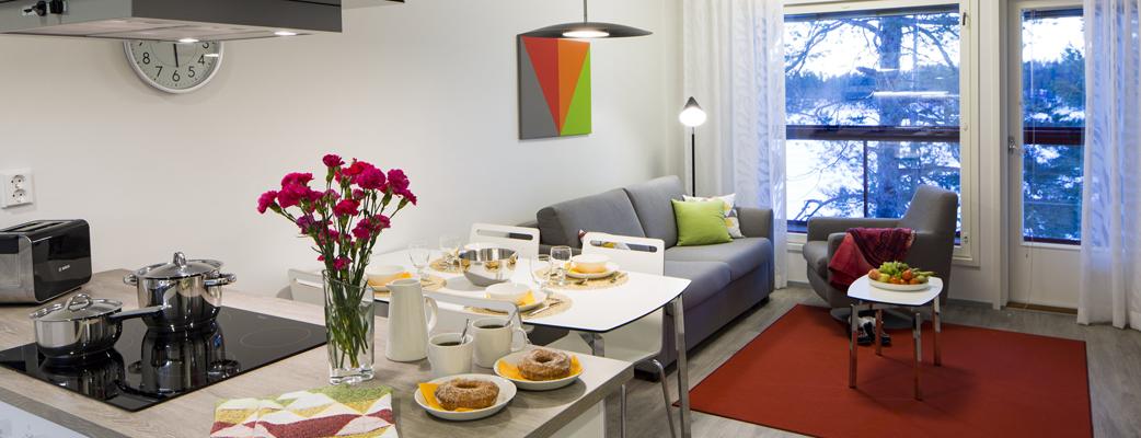 Новые красочные апартаменты Petäjälammenranta