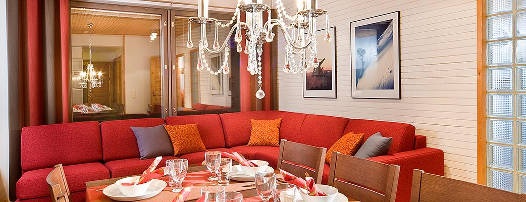 Апартаменты Pyhä HolySuites великолепно подходят, например, для размещения участников делового мероприятия.