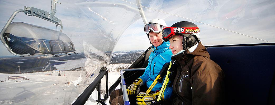 Во время подъёма на склоны Пюхя, одно удовольствие любоваться великолепными пейзажами Лапландии.