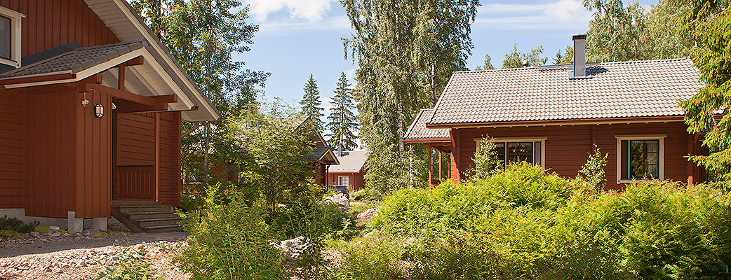 The log villas at Holiday Club Rönnäs are spacious and well-equipped.