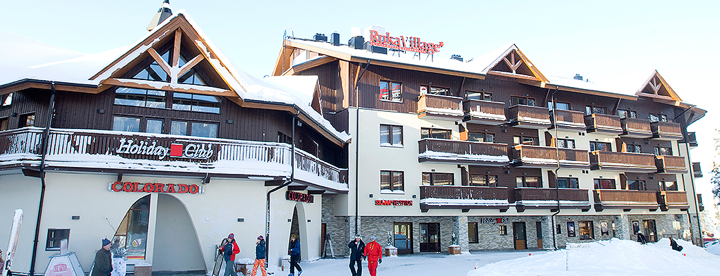 The Holiday Club RukaVillage is located at the heart of the modern pedestrian street in Ruka.