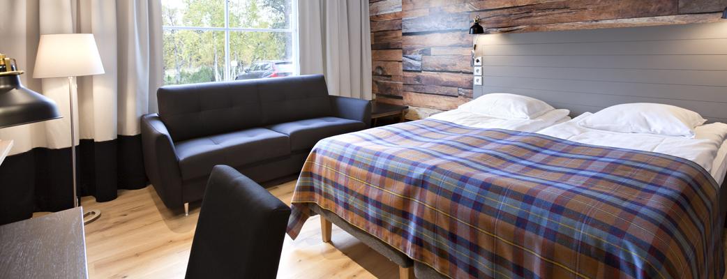 Saariselän hotellihuoneet ovat remontin myötä saaneet uuden ilmeen.