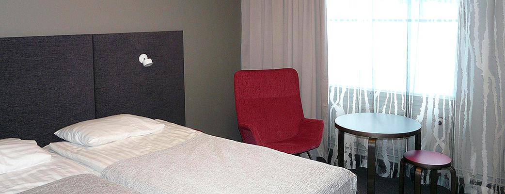 Rummen i Saariselkä spahotell är tidlöst eleganta.