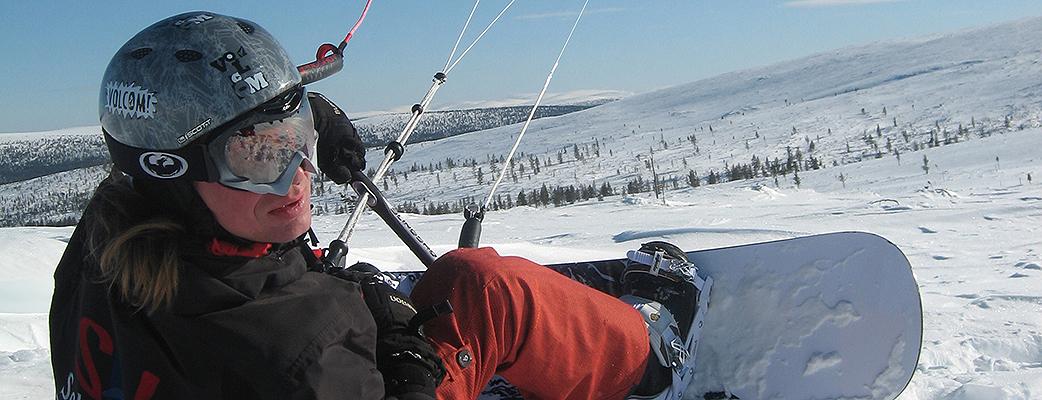 Ski Saariselän laakeat rinteet sopivat myös leijahiihtoon.