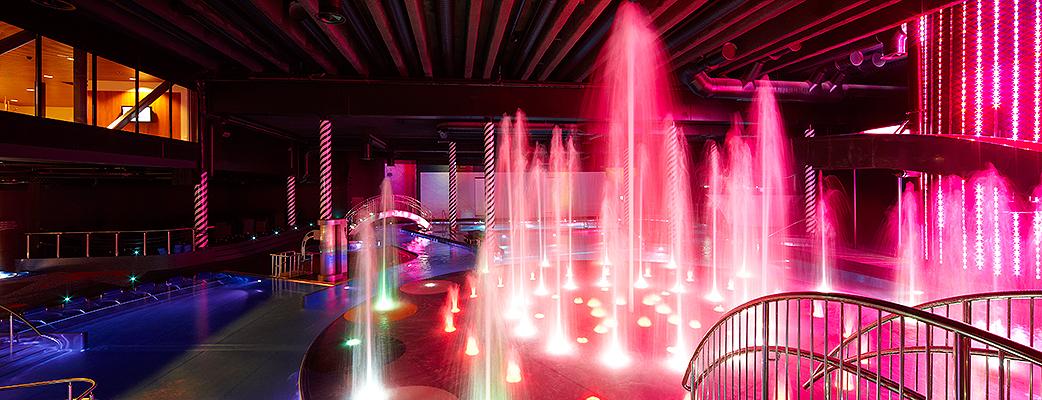 Valoja ja varjoja - Cirque de Saimaa -kylpylä on myös visuaalinen elämys.