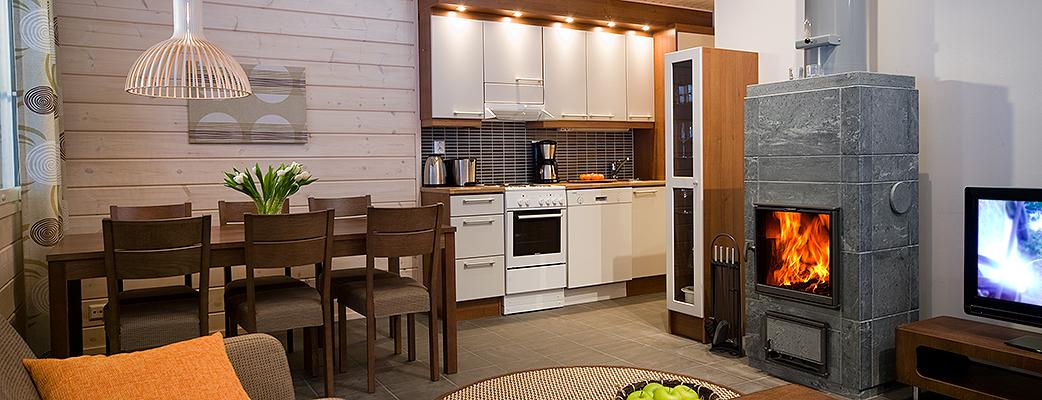 В апартаментах Sallantähti есть все необходимое,  в том числе стиральная машина и сушильный шкаф, наличие которых по достоинству оценят все любители активного отдыха.