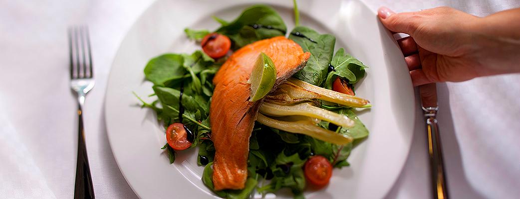 Fräscha måltider hör till en semester för välbefinnandet.