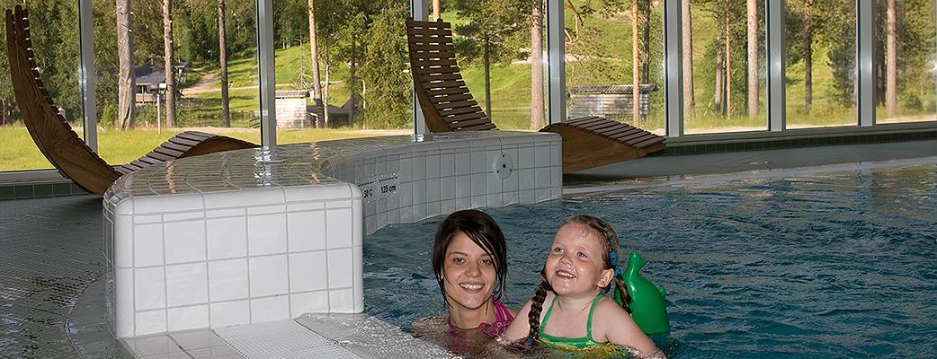 The whole family enjoys Salla's fell spa.