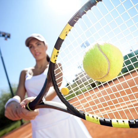 Открытый корт для игры в теннис