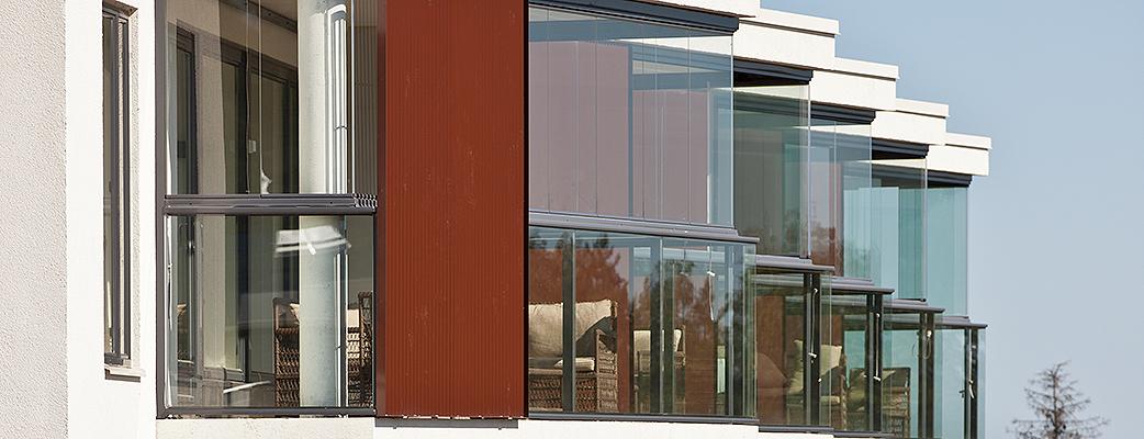Апартаменты Villas1 в Сайма спроектированы таким образом, что любоваться природой можно из окон и, конечно, с балкона.